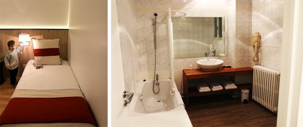 Grande salle de bain de l'Hôtel Mir