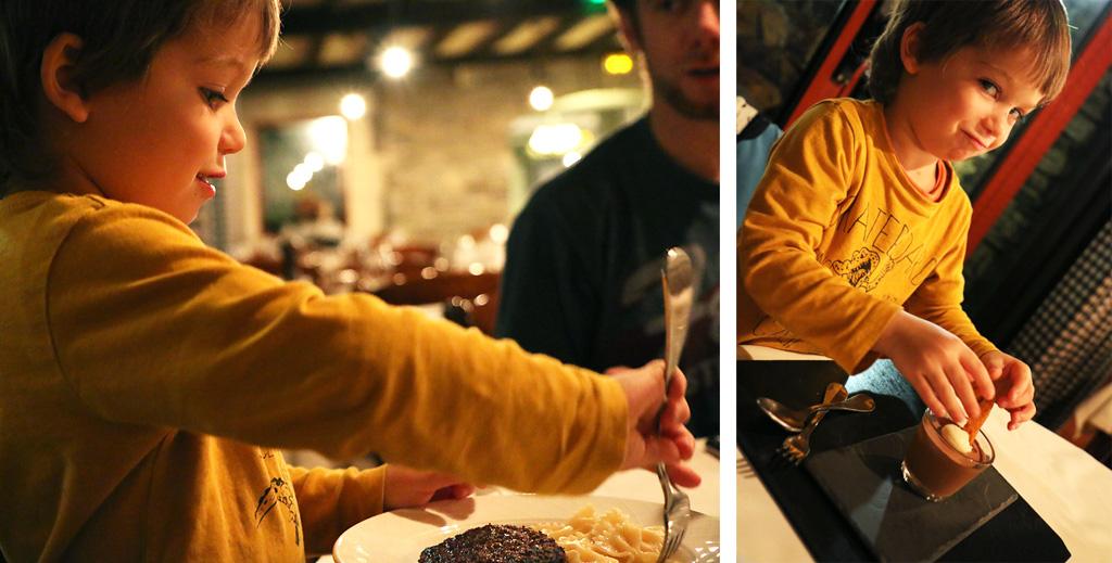 Mousse au chocolat Restaurant La Pegola