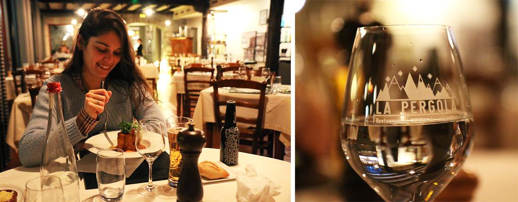 Diner à La Pergola à Saint-Lary