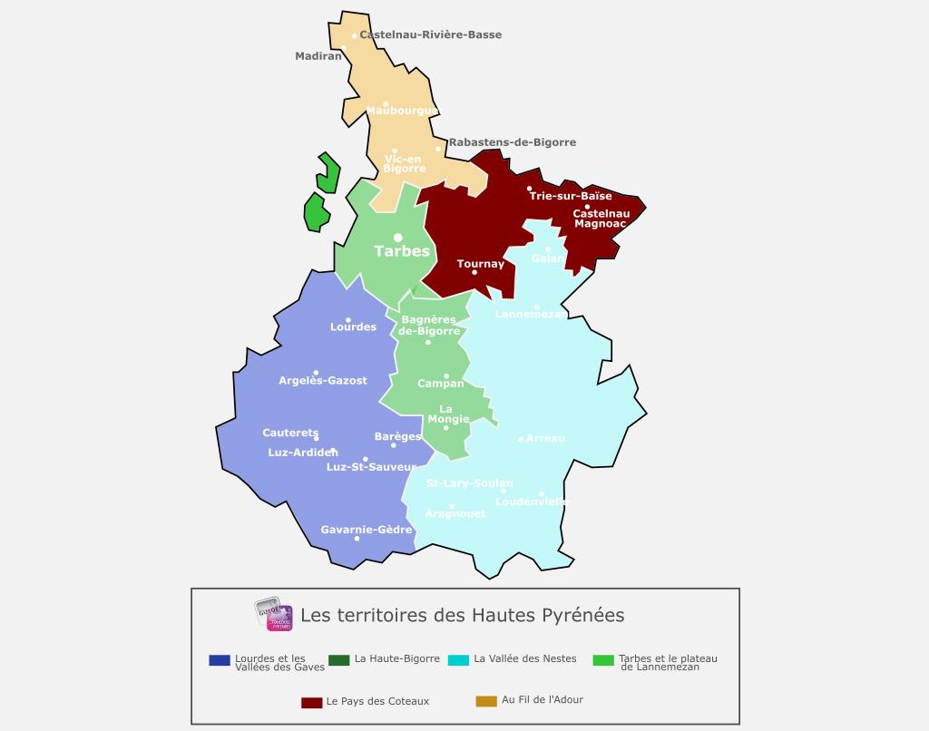 Carte des Hautes Pyrénées