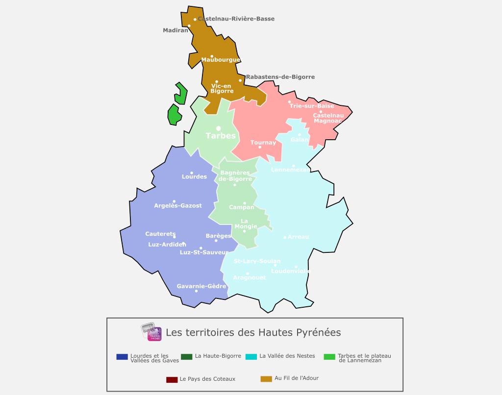 Carte du territoire au Fil de l'Adour