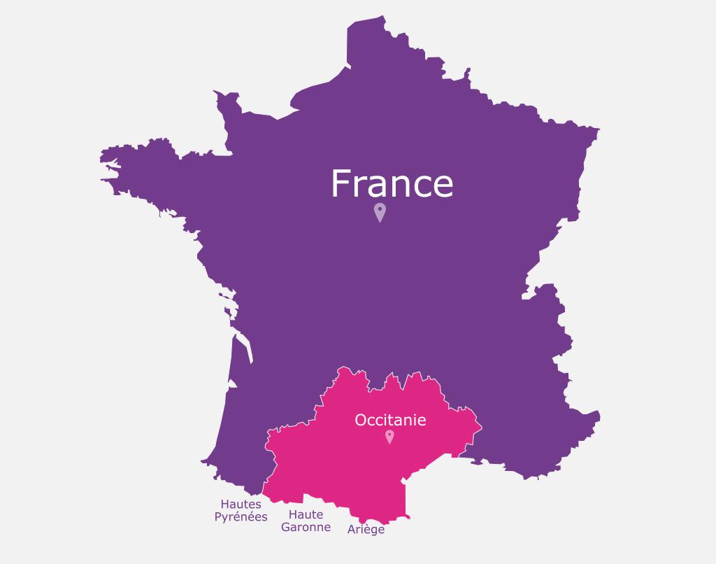 Toulouse Pyrénées, Haute Garonne, Ariège, en France