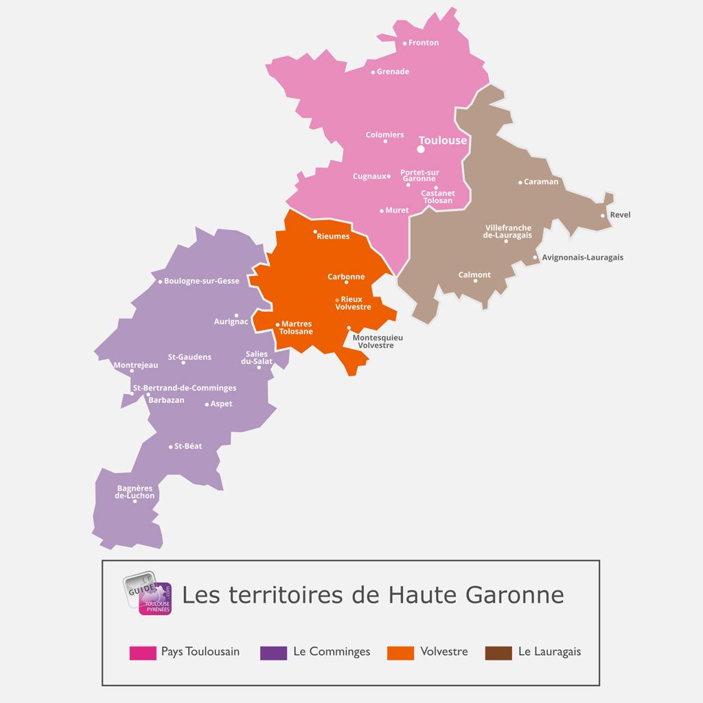Carte du Volvestre en Haute Garonne