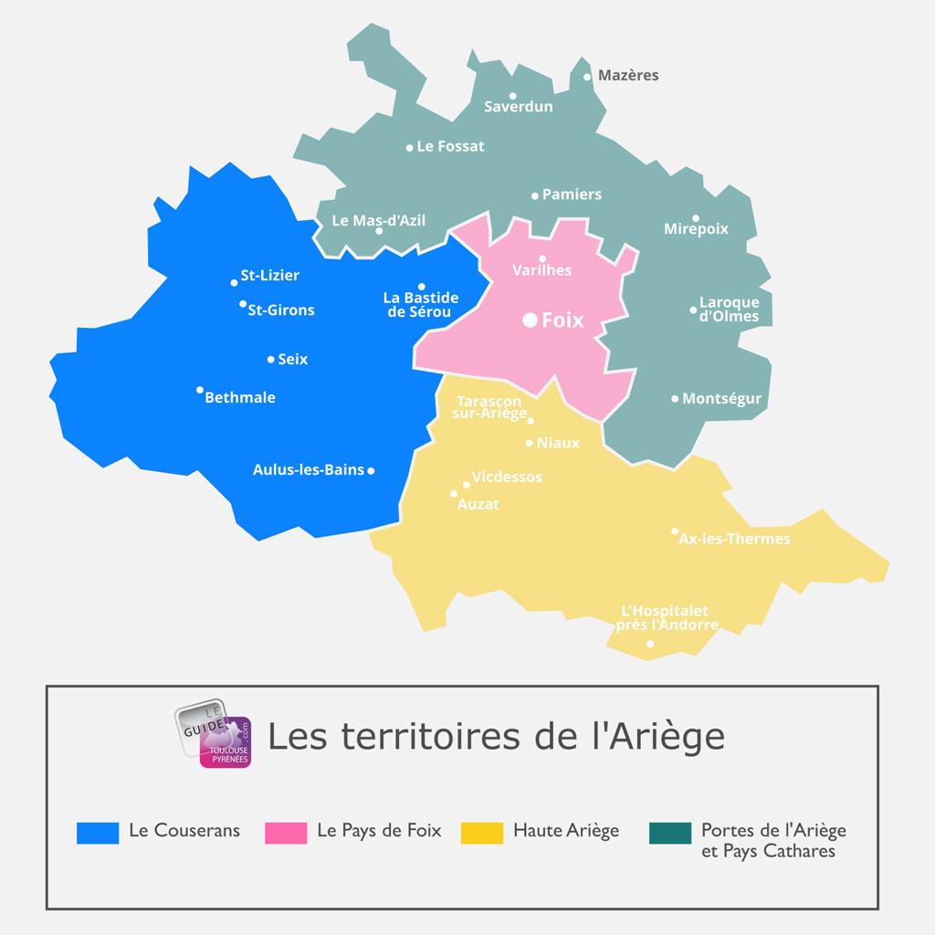 Carte du Couserans en Ariège