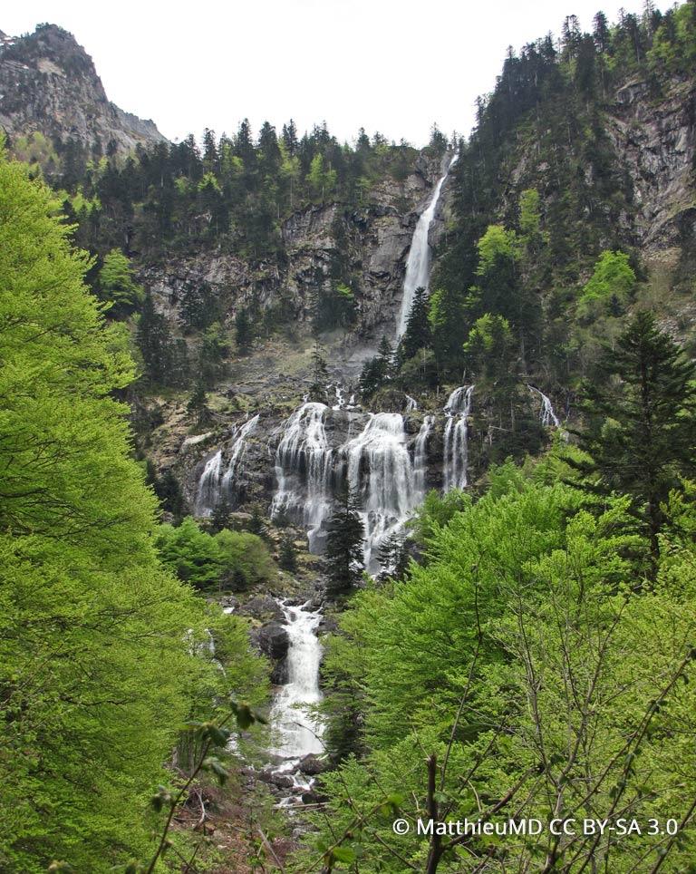 La Cascade d'Ars près de Bethmale