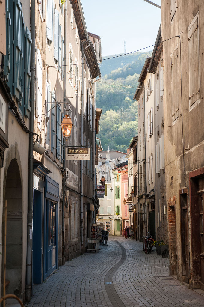 Les jolies ruelles de la ville de Foix
