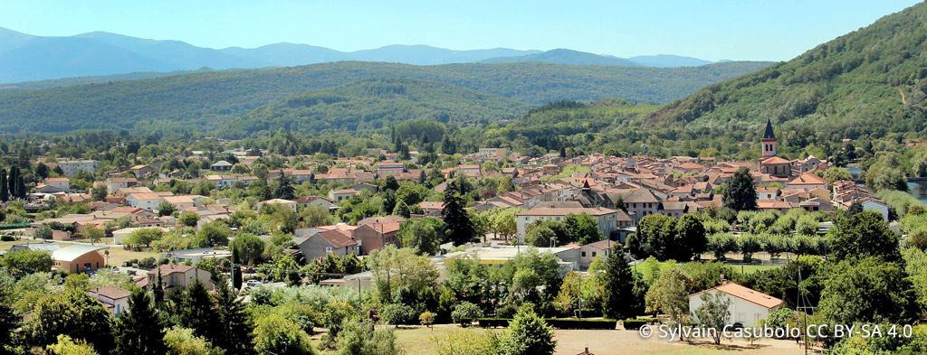 Vue panoramique depuis Varilhes