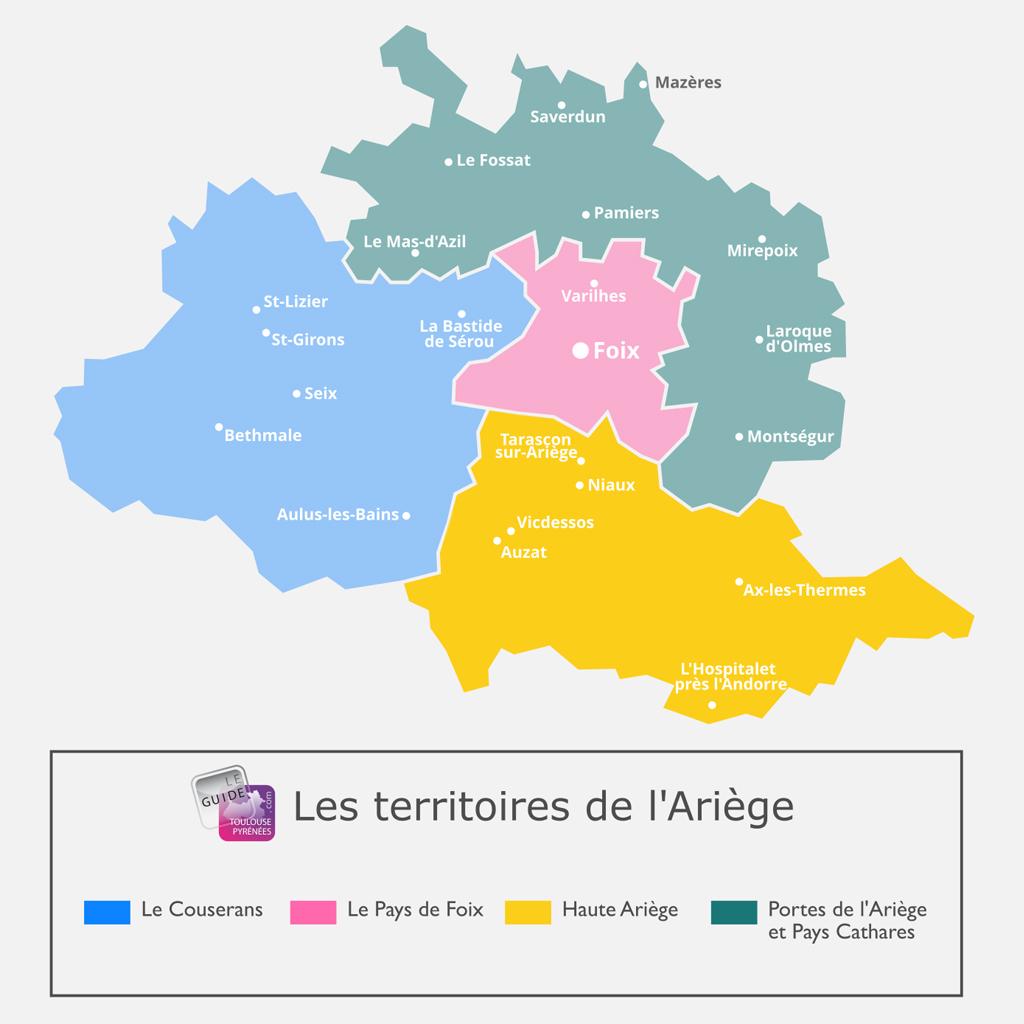 Carte de la Haute Ariège en Ariège