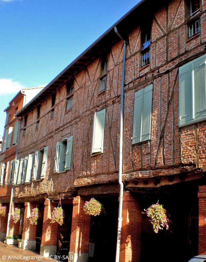 Les maisons à colombages de Mazères